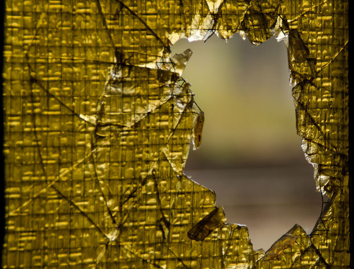 Close-Up Of Shattered Glass