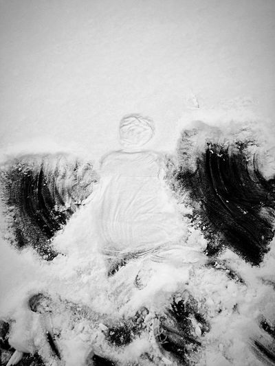 Angels at the edge Outside Winter Snowangel No People Water Winter Day Snow Nature Outdoors Close-up Cold Temperature