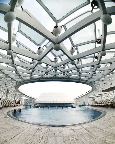 a pool area never looked this good Abu Dhabi Architecture Built Structure No People Day Indoors  Ceiling Nature Travel Destinations Travel
