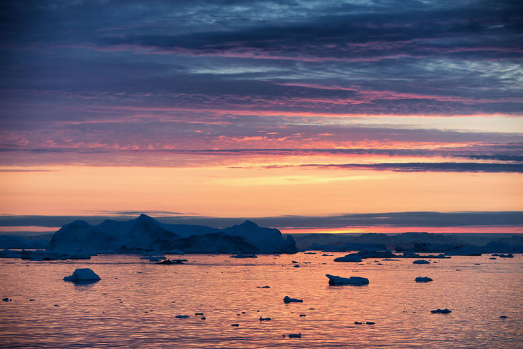 Colors Greenland Ice Nature Reflection Arctic Arctic Circle Iceberg Ocean Seascape Sky Sun Sunset
