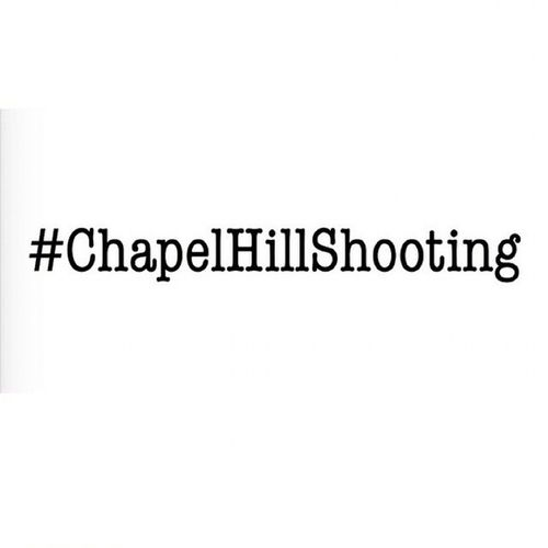 Muslims are newsworthy only when behind the gun , not in front Chapelhillshooting Muslimlivesmatter