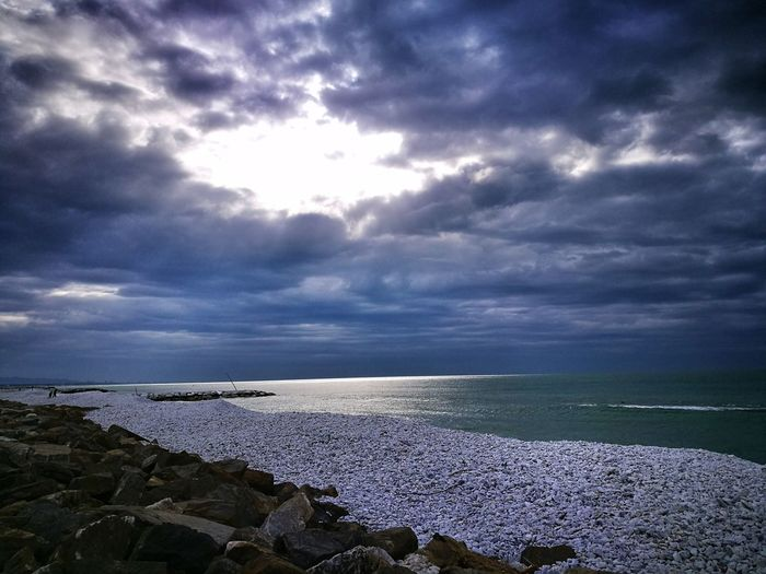 Sea Horizon Over Water Scenics Cloud - Sky Tranquility Sky Beauty In Nature Tranquil Scene Beach Outdoors No People Nature Water Cloudy Sky Winter Sea