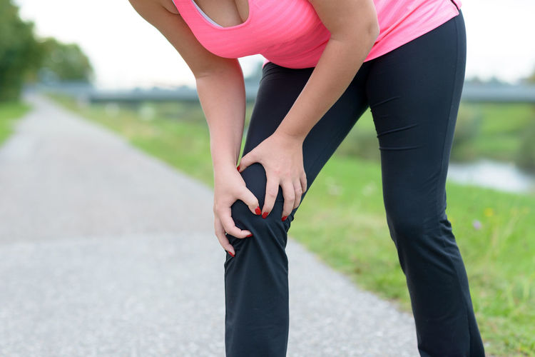 Girl Knee Painful Sport Women