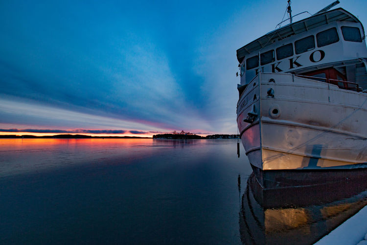 Winter is coming to harbour.. Sunset Landscape Lake Clouds Sky Boat Harbour Colorful Kuopio Finland Ukko