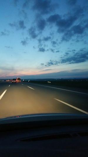 AutobahnMontag Morgen Schöne Wochen Start