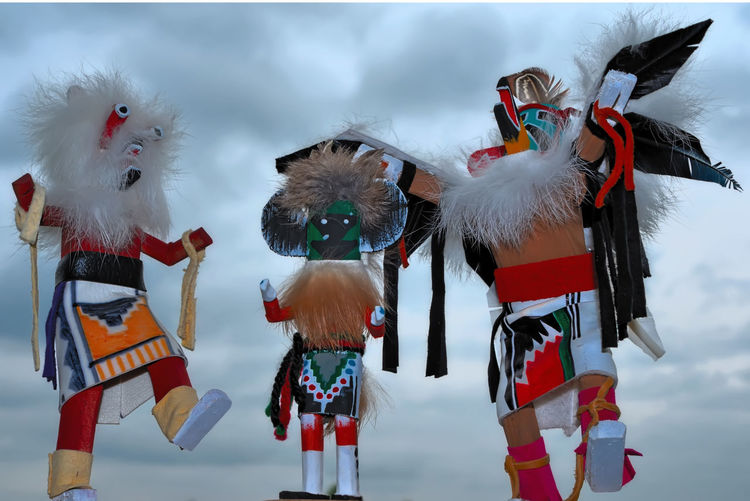 The Kachina dolls dancing! Arizona Cloud Cloud - Sky Cloudy Day Fantasy Hopi Culture Kachina Dolls Mask - Disguise Multi Colored Native American Art Navajo NavajoNation Person Sky