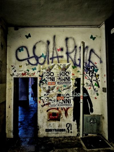 Padova, Aprile 2019 Hdr_Collection Urban City Night Text Graffiti Spray Paint Street Art Built Structure Written