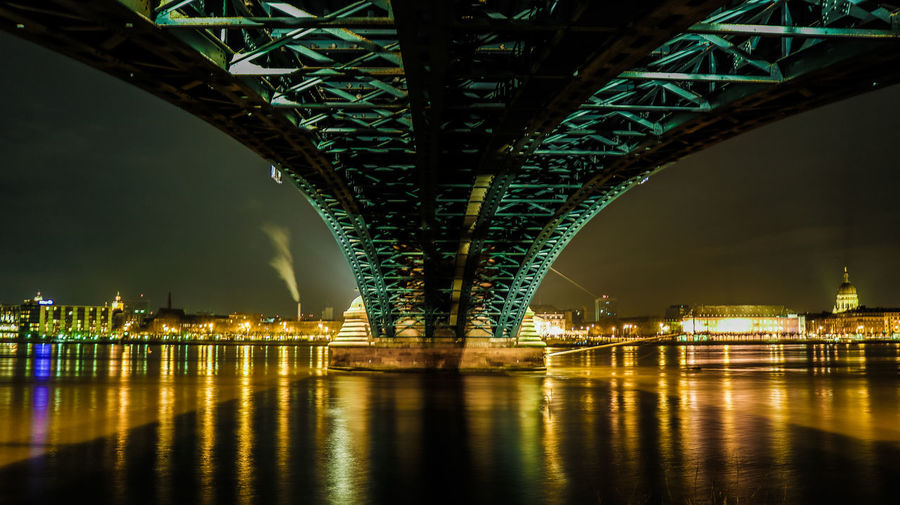 Bigger version of an already published photo Photography Canon Illuminated Architecture Night Long Exposure City Cityscape Illuminated Urban Skyline Bridge - Man Made Structure Water River Reflection Steel Arch Arch Bridge Postcard Bridge Light Painting Flowing Water Stories From The City EyeEmNewHere Visual Creativity HUAWEI Photo Award: After Dark