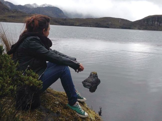 Cuenca, Ecuador Laguna Toreadora Water Cold Cold Temperature Cold Days Beauty In Nature Nature Nature_collection Contemplating One Person Mountain Silence EyeEm Best Shots EyeEm Nature Lover EyeEmNewHere EyeEm Vscocam Tranquility Travel Destinations Lost In The Landscape