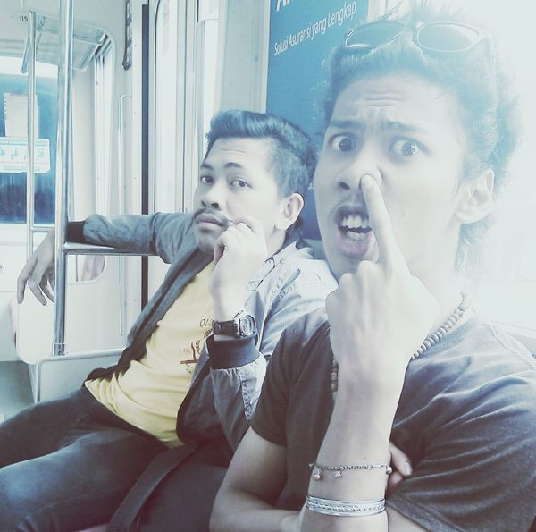 in train with candra Freakday Hi! Check This Out Enjoying Life