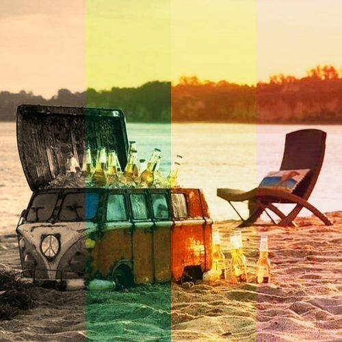 Yaz sezonu... Summer Woswos Auto Otomobil hippie beer coast beach Made with @filtergrid filtergrid