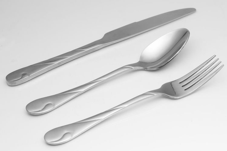 Close-up Cutlery Fork High Angle View Metal No People Product Product Photography Silver  Silver Colored Silverware  Stainless Steel  Still Life Studio Shot Table Variation White Background