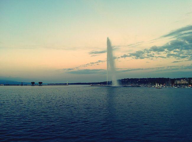 Jetdeau Geneve Summer Trip Sunrise