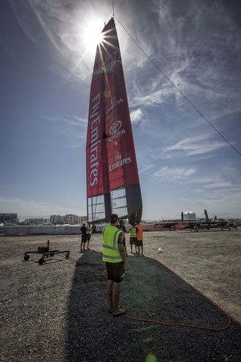 America's Cup World Series Oman Emirates Team New Zealand Yacht Race Launching