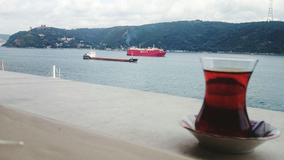 Tea çay Ships⚓️⛵️🚢 Landscape Relaxing Time Holiday Long Live Freedom ıstanbul Tatil Kafa Dinleme