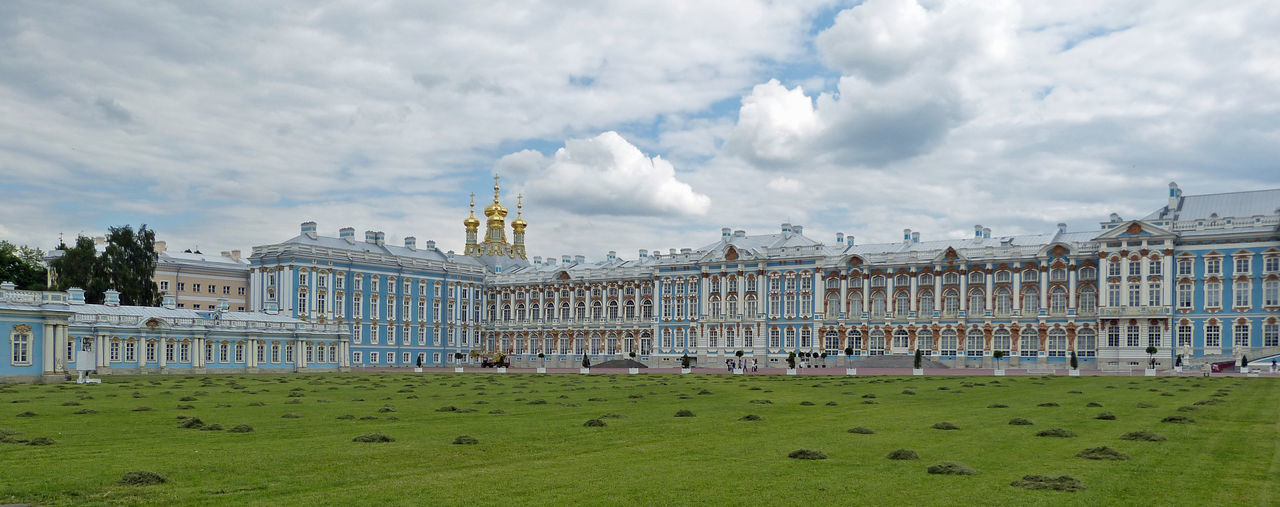 Catherine's Palace, St Petersburg, Russia Architecture Baroque Building Exterior Catherine Palace Catherine's Palace Cloud - Sky Grass Nature No People Russia Saint Petersburg Sky St Petersburg Travel Destinations