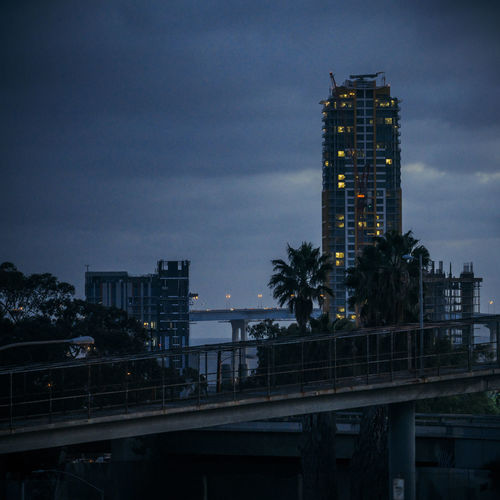 City Storm Architecture Bridge - Man Made Structure Buidling Building Exterior Built Structure City Cityscape Climate Climate Change Connection Freeway City Illuminated Modern Night No People Outdoors Sky Skyscraper Storm Global Warming Storms Global Tree
