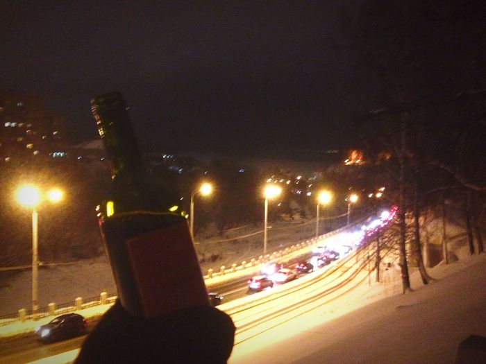 Russia Winter Drinking Wine Nizhniy Novgorod