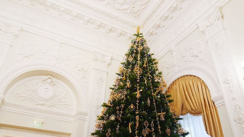 Tree Christmas Christmas Tree No People Indoors  Architecture Built Structure Christmas Decoration Christmas Ornament Day Lithuania White House Grybauskaite Lithuanian President Christmas Lights Holiday - Event Christmas Tree Celebration Illuminated
