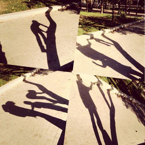 Shadows Moscow Autumn Family