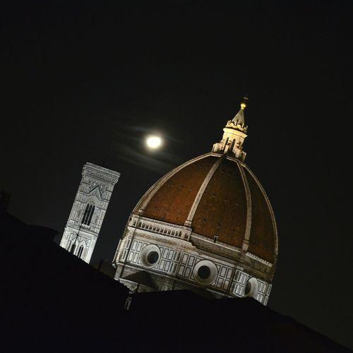 Moonlight dream Architecture Dome Firenze Florence Duomo Santa Maria Del Fiore Moonlight Moon Lunatic First Eyeem Photo