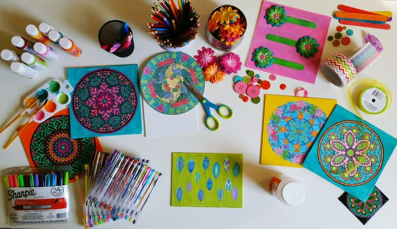 Arts And Crafts Crafts Colors Colorful Colorfull Roses Flowers Color Pencil Sharpies  Sharpie Art