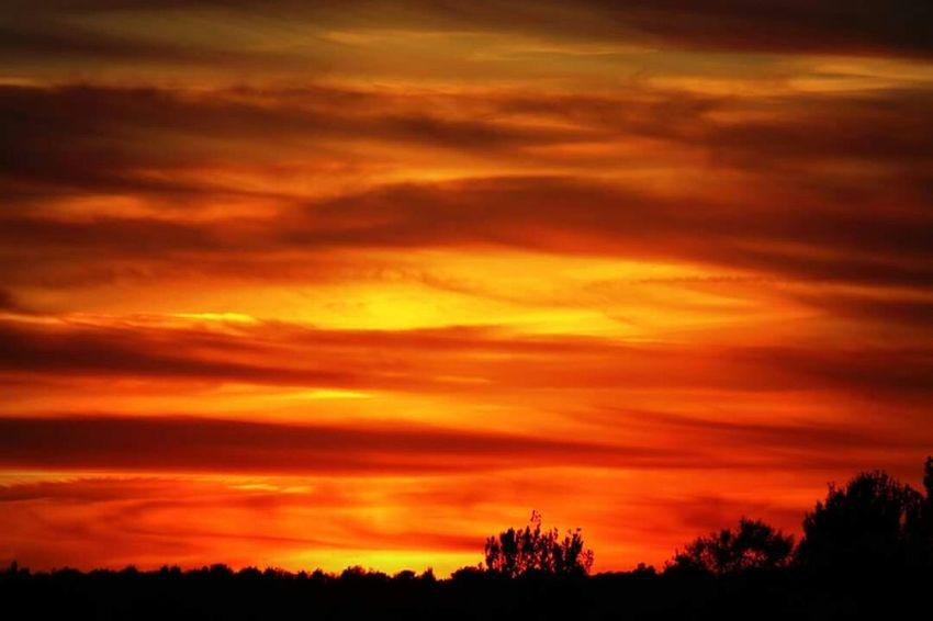 Sunset at Miltonkeynes BeautifulSunset Fireinthesky