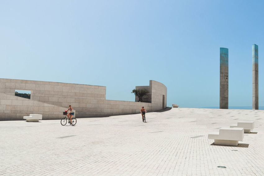 Light blue Champalimaud Foundation Lisbon Lisbona Portugal Portogallo Architettura Sand Only Men Clear Sky Day Outdoors Sky Business Finance And Industry Blue Architecture City Colour Your Horizn Stories From The City Adventures In The City