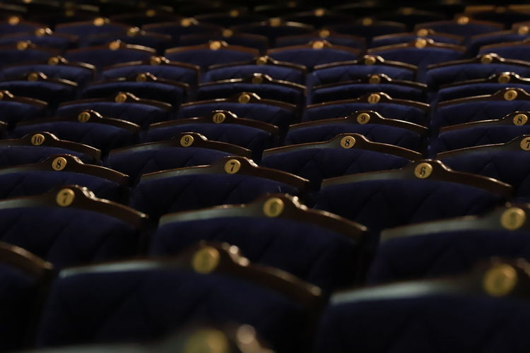 Full frame shot of theatre chairs