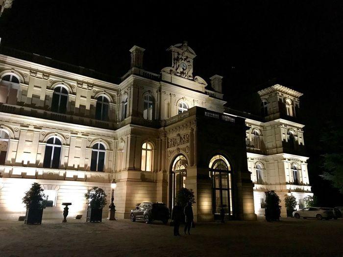 Château de Ferrières Night Architecture Built Structure Building Exterior Illuminated History The Past