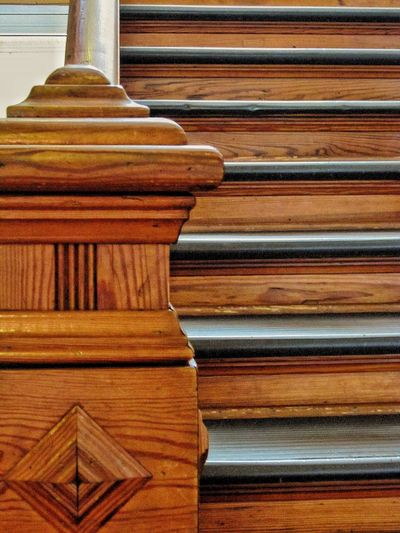 Stairway at Sacred Heart Monastery Stairways Stairs Building Interior Interior Design Wooden Carpentry Old Buildings Old