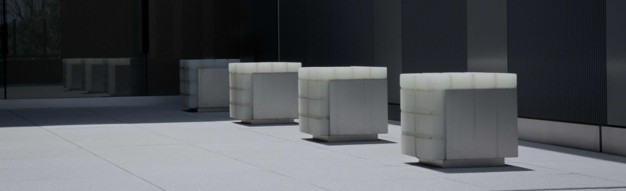 labelphoto Chairs Design Empty Flooring In A Row Modern Monotone No People Side By Side Sunlight And Shadow White Black Silence Blocks