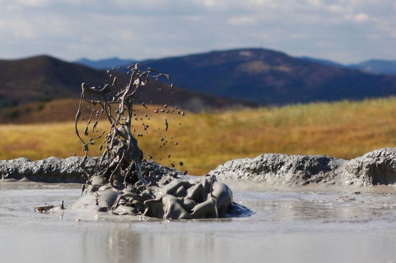Boiling mud in thermal area