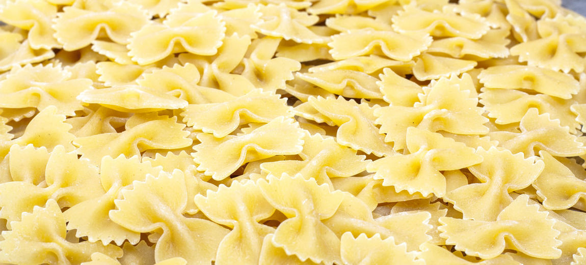 Full frame shot of farfalle