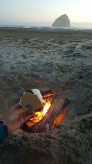 Bring people together, radiate warm, don't go to bed fired up...Oregon Enjoying The View S'mores Fireplace Beautiful Surroundings PNWweather