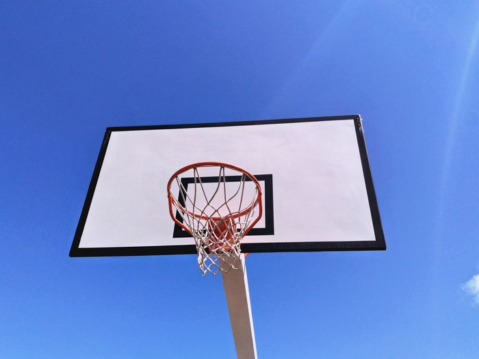 Basketball - Sport Court Sportsman Basketball Hoop Basketball Player Athlete Sport Competition Blue Clear Sky Making A Basket Dribbling Track And Field Stadium Scoring Summer In The City EyeEmNewHere
