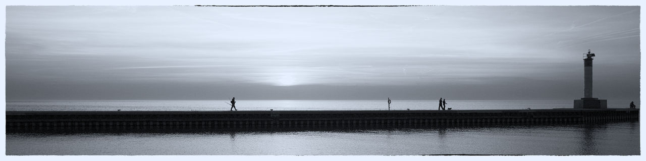 The day of a new Dawn B+W Street Photography Toronto Landscape Beauty In Nature Horizon Outdoors Sky Torontophotographer Tranquility Water