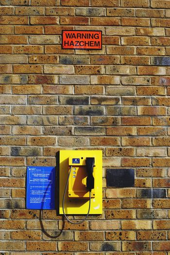 Emergency Telephone and the Warning Sign Postcode Postcards