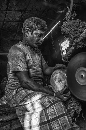 The working man Sitting Humanlife Kolkata Kolkatadairies Northkolkata Blackandwhite Man Work Dailylife Dailylifeindia Classic Cleaning Equipment