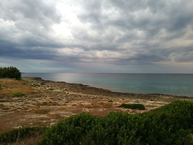"""""""I swear, It was magnetic attraction!"""" Sea Water Horizon Over Water Tranquil Scene Tranquility Cloud - Sky Beauty In Nature Italy Puglia South Italy Puglia Taranto Original Photography Original Photo No Filter, No Edit, Just Photography No Filter Original Colour Of Life Colors Of Life Coastline"""