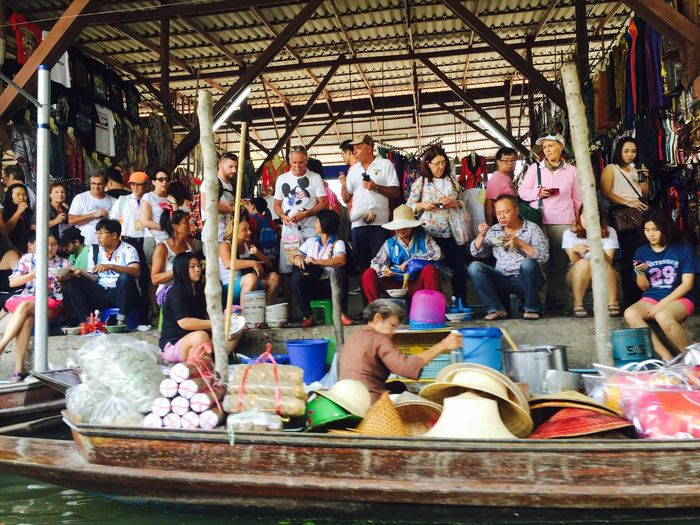 Large Group Of People Men Real People Day Outdoors People Adult Floatingmarket Local Market