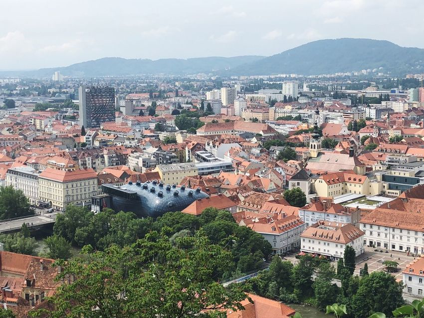 Beautiful skyline of Graz, Austria as seen from above View From Above City Cityscape Austria ❤ Graz Austria Graz Building Exterior Architecture Built Structure City Residential District Building High Angle View Cityscape Crowded Day Nature Roof House TOWNSCAPE