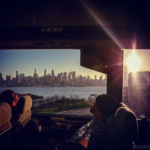 Newyork Skyline Nyskyline Nysunset Manhattan Ilovenewyork Bestoftheday Picoftheday Byebyeny Instagoodnight Instagood