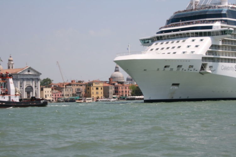 Canals And Waterways Close Up Cruise Cruise Ship Day Little And Large Nautical Vessel Outdoors Small Buildings Transportation Venice, Italy