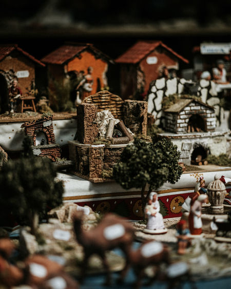 Selective Focus No People Architecture Human Representation Christmas Tree Representation Built Structure Holiday Religion Day Decoration Indoors  Art And Craft Christmas Decoration Spirituality Creativity Building Close-up Christmas Ornament