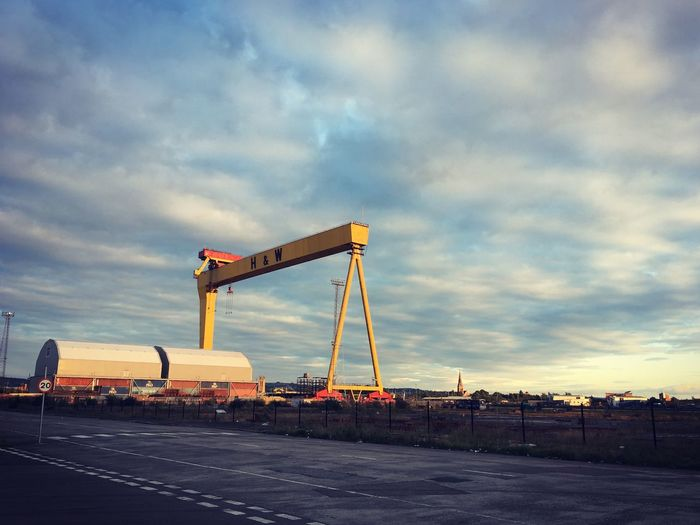 Harland&Wolff Titanic Belfast Sky Cloud - Sky Industry Crane - Construction Machinery Built Structure No People Sunset