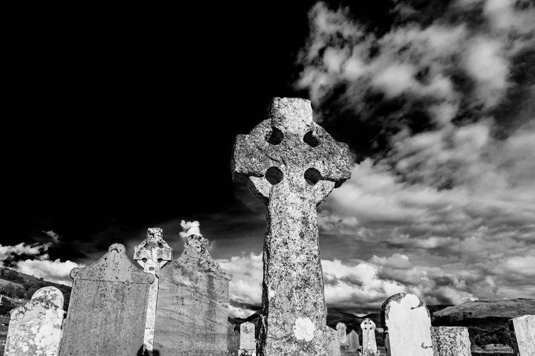 Cross Religion Cemetery The Past Tombstone Spirituality History Memorial Ancient No People Outdoors Day Low Angle View Grave Sky Architecture Forgiveness