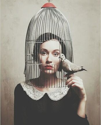 Lady Lady And The Bird Birdandcage