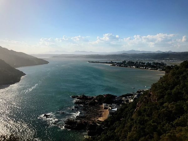 If you haven't been to Knysna, be sure to add it to your list of places to visit. It's such a beautiful place! South Africa Knysna EyeEm Nature Lover EyeEmNewHere Sea Water Nature Scenics Beauty In Nature Sky Tranquil Scene Tranquility Outdoors No People Blue Day Horizon Over Water Beach Landscape Mountain