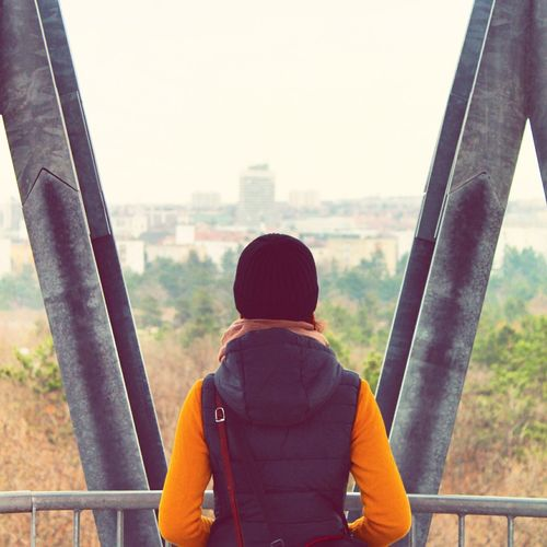 Watch(wo)man Women Around The World Watchman Veszprém Gulyadomb Gizella Kilátó Húszemeletes Viewpoint One Person Only Men One Man Only Adults Only Outdoors City Forest Nature Rear View Waist Up Human Back Back Warm Clothing Adult Day Woman